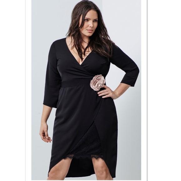 Torrid Dresses Inside Wrap Lace Slip Dress Black Size 20 Poshmark